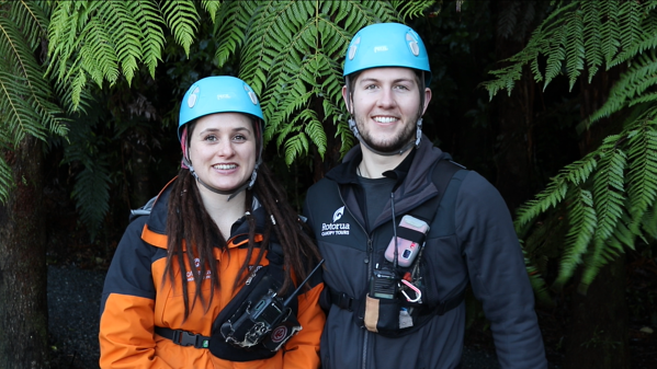 Cheynne and Spencer - Rotorua Canopy Tour guides