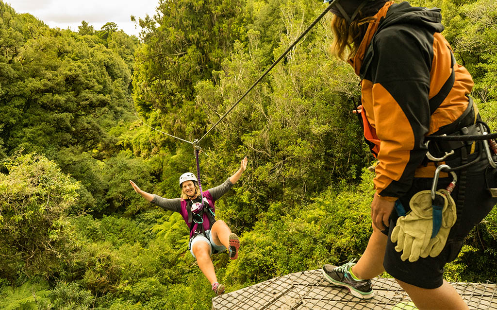 New Zealand Tourism-Rotorua Canopy Tours