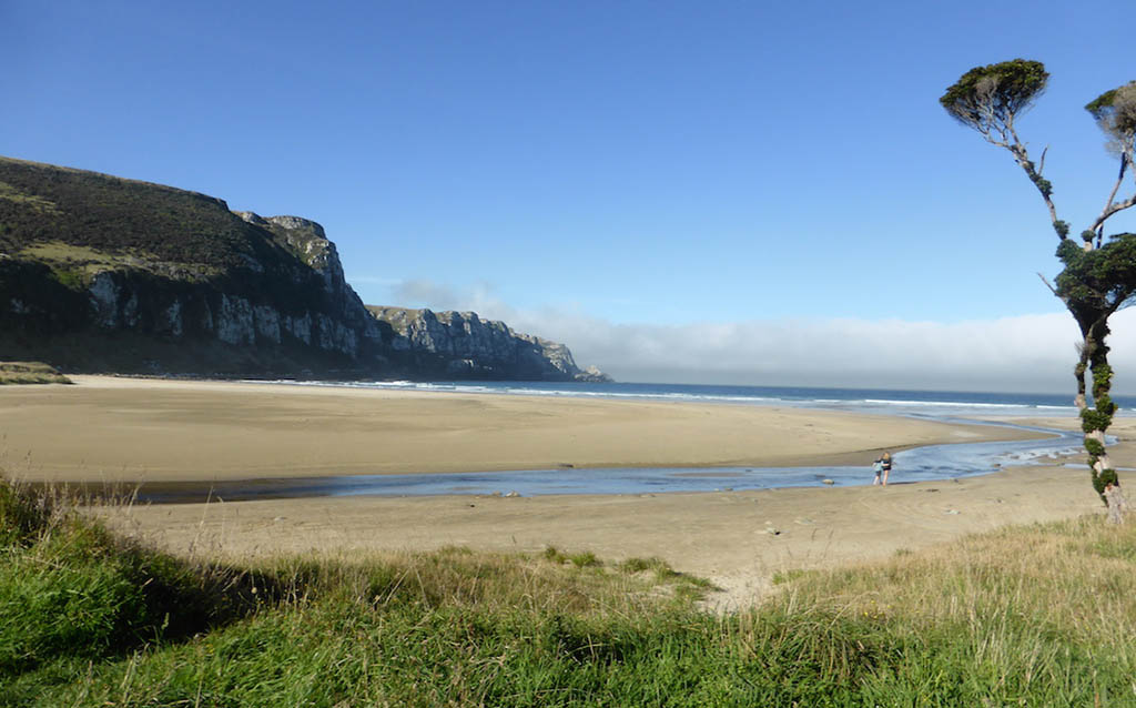 Places to visit in New Zealand -Purakaunui-Bay-Southland