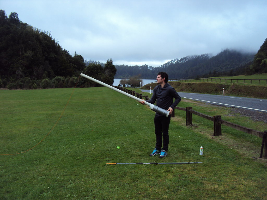 Launching a potato gun