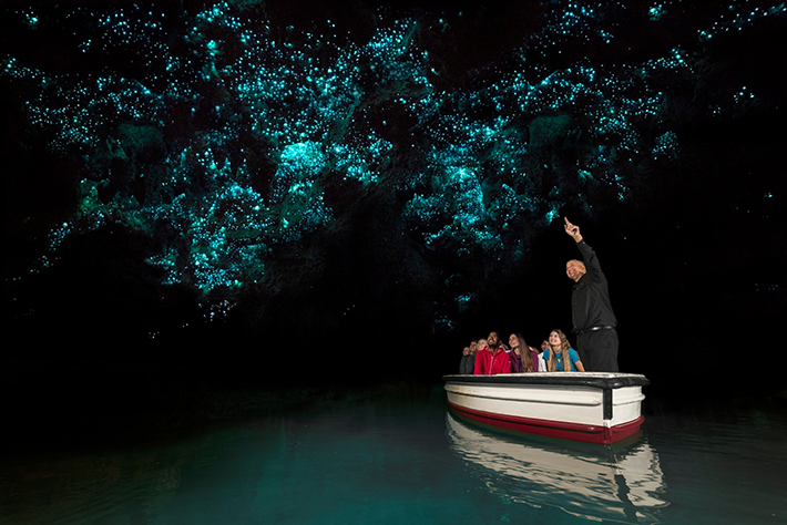 North Island family activities Waitomo Glowworm Caves